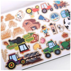 About 140 children's brand reusable stickers children's baby 5 scene stickers books classic toys cartoon stickers baby gifts Z1201