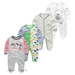 4Pcs Clothing Sets Newborn Baby Girls Clothes Roupas de bebe Boys 0-12M Fashion Full Sheeve Baby Rompers Pajamas menina Boys Y1113