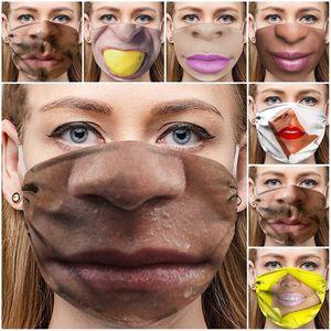 Reusable Cloth Face Mask Ultraviolet Proof Mascarilla Dustproof Respirator Ear Hanging Type Funny Printing Ventilation Trial Order 4 5wsd D2
