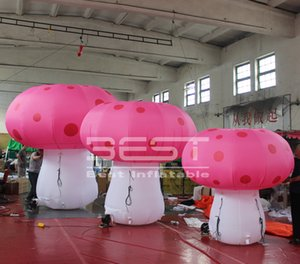 Colorful Giant Inflatable Mushroom Decorations with Air Blower Inflatable Decorations for Theme Park, Event