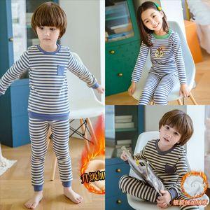 EWU2 HYLKIDHUOSE Baby Girl clothe child freeze clothe Boy blue Clothing Sets Autumn Winter Plush Infant Clothes Suits Cartoon Kids