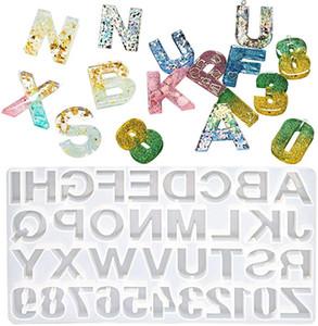 DIY Reçine Takı Döküm Silikon Kalıpları Numarası Alfabe Mektubu DIY Zanaat El Yapımı için Şekilli Anahtarlık Ev Numarası Kalıp KIMTER-C156FZ