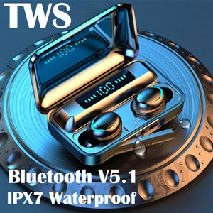 TWS Bluetooth Earphone V9D Stereo Sound Wireless Headphones Waterproof Sports Running Headset Digital Display Earbuds for Phones