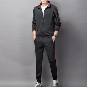 2021 Two Pieces Set Tracksuit Men's Hoodie Sets Sportswear Thick Hoodie+Pants Sport Suits Casual Sweatshirt And Sweatpants B1205