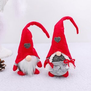 2021 Christmas Faceless Gnome Santa Christmas Tree Hanging Ornament Doll Decoration For Home Pendant Gifts Ornaments Party Suppl