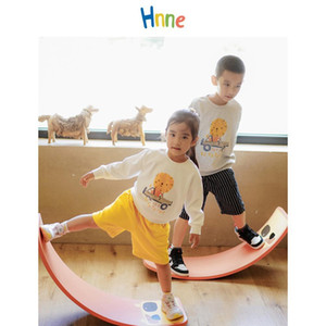 Hnne Boys Girls Lion Hoodies Cartoon Kids Active Sweatshirts Children O-neck Pullover Unisex Joggers Tracksuits Tops F1203