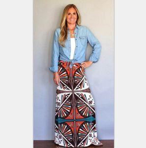 Женский карандашный юбка новая напечатанная высокая талия стройная юбка девушка лето большой размер печати повседневная China (Mainland) юбки женские q0119