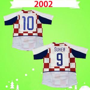 Maglia Croazia 2002 2003 Maglia da calcio retrò 02 03 Maglia da calcio classica vintage home # 10 Kovac # 11 Boksic # 9 Suker # 19 Vlaovi Maillot de foot