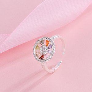 Lingguang Temple Azan Buddha Brand Rainbow Open Ring Lucky Attracting Male Law Ring Consecrated 925 Silver Ring