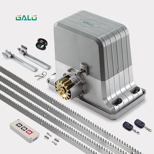 Heavy duty residential gear system electric sliding gate opener  sliding door motor with 4m steel racks ktyfobs kit Optional
