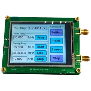 FreeShipping 35-4400M ADF4351 RF Signal Source Signal Generator Wave   Point Frequency Press Sn LCD Display Control