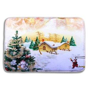 40 * 60 cm Christmas Bathroom Tapetes Tapete 3D Não-deslizamento Bath Esteira Para Banheiro Esteira de Banheiro para Sala de Living Floor Tapetes Capacetes de Cozinha DHC3827