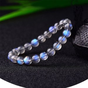 Small And Exquisite Gray Moonstone Beaded Bracelets for Women Luxury High End Natural Stone Beaded Bracelet Delicate Jewelry Z1124