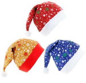 Santa Hat Thickening Soft Plush Christmas Hat Warm Christmas High-Grade Plush Adult Hat Xmas Ornament Festive Decorations ZY57