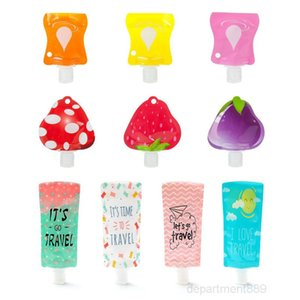 25ml 90ml travel Cosmetic filling pvc bag,portable Packing bag hand sanitizer Shampoo Makeup fluid sub packaging bottle DHC824