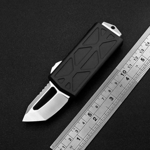 """New 5.6 """"Flying Fish Outdoor Tactical automatic Knife high-end quality aluminum CNC D2 steel send titanium alloy pendant"""