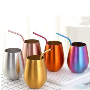 304 tumbler in acciaio inox rotondo tazze di birra rotondo creativo freddo beve tazza barra shaker famiglia tazza di acqua tazze da caffè bottiglia d'acqua YHM180