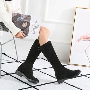 Boots Women New 2020 Sexy Thigh High Heels High Sexy Autumn Shoes Winter Footwear Round Toe Luxury Designer Rubber Rock