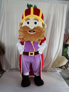 high quality semper king mascot Costume for Party Cartoon Character Mascot Costumes for Sale free shipping support customization