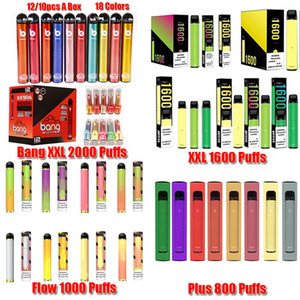 Bang XXL 퍼프 Xtra Posh Plus XL Bar Flow Max Pro Hyde 곡선 일회용 장치 Pod Kit 1500 Puffs Prefilled Vape 빈 펜