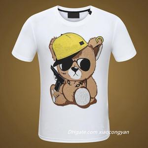 2021 새로운 여름 코튼 티셔츠 꽃 뱀 자수 패션 짧은 소매 티셔츠 남성 브랜드 티셔츠 남성 럭셔리 옴므 # 6610 티셔츠