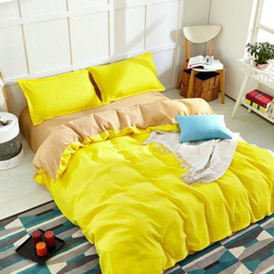 Winter Home Textile Solid Color Duvet Cover Pillow Case Bed Sheet Teen Girl  Adult Bedding Linens 2020 New Bet Sets