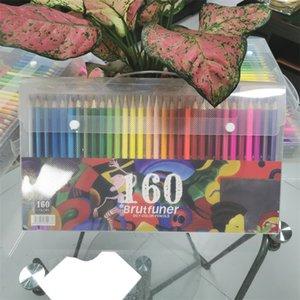 Brutfuner 160 Colors Professional Color Pencil Set Oil Watercolor Wood Colored Pencils Artist painting Drawing colour colours 201223