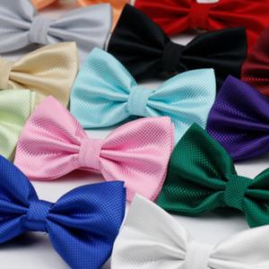 20 couleurs Fashion Solid Boîtes Brooms Hommes Coloré Plaid Cravat Cravat Gravata Mariage Mariage Butterfly Mariage Arch Cadre Wedd Qylfaa