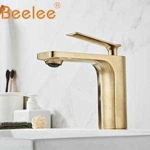 Mitigeur salle de bains moderne bassin Robinet de lavage lavabo robinet d'évier nickel brossé or fini BL6682BG Lavatory