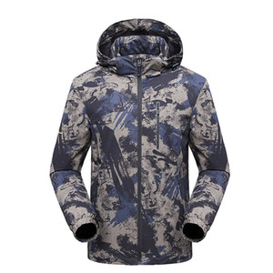 Rain Jacket Men Waterproof Hunting Clothes Hiking Camping Camouflage Tactical Windbreaker Goretex Jacket Outdoor Coat Men L-5XL