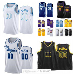 Hombres personalizados Los Jóvenes Los Ciudad Angeles Team Anthony 3 Davis 23 Player 4 Caruso 15 Harrell Cualquier nombre Número Swingman Basketball Jersey