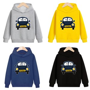 Baby Boys Girls Sweatshirts Winter Spring Autumn Child Hoodies Sweater Kids T-shirt Clothes New Arrival Print Car New 2020 F1202