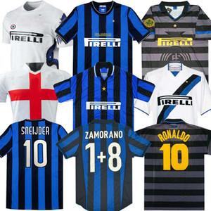 Finale 2009 2010 Milito Sneijder Zanetti Mailand Retro Fussball Jersey Pizarro Football Mailand 1997 1998 97 98 99 Djorkaeff Baggio Ronaldo 02 03