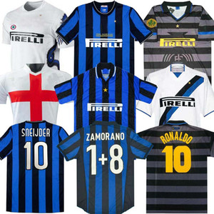 Финал 2009 2019 Milito Sneijder Zanetti Milan Ретро Футбол Джерси Pizarro Футбол Milan 1997 1998 97 98 99 Djorkaeff Baggio Roantdo 02 03