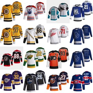 2020-21 Reverse Retro Hockey Jersey Jonathan Quick Kevin Fiala Brendan Gallagher Anders Lee Mario Lemieux Jakub Voracek Brayden Point Jersey
