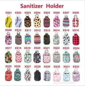 Neoprene Sanitizer 30ML Empty Keychain Bags Portable Perfume Covers Hand Soap Bottle Holder Novelty Items OWC3685