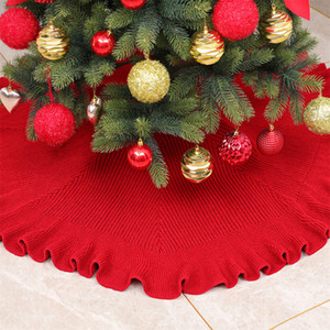 Christmas Tree Skirts white ball circle linen tree skirt atmosphere layout Home Party Xmas Tree decoration 2021New Year Z1128