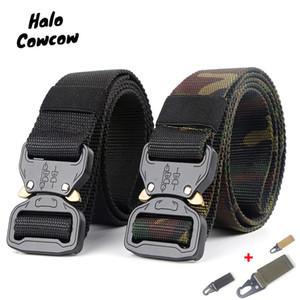 Luxo-mens tático cinturão de nylon cinto de nylon ao ar livre treinamento multifuncional homens cinta cintura calça jeans macho