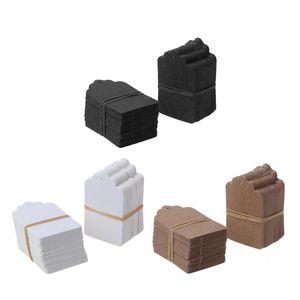 Javrick 100 pcs Brown Kraft String Blanks Wedden Favor Preço Etiqueta de Papel Preço Tags