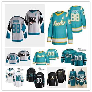 2021 San Jose Sharks Reverse Retro Jersey Erik Karlsson Joe Pavelski Brent Rurns Joe Thornton Logan Couture Tomas Hertl Evander Kane Marleau