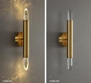 Soggiorno Lampada da parete Lampada da parete Light Light Crystal Comodino Sfondo Sfondo Bedroom Bedroom Gold All Rame Crystal Wall Lamp