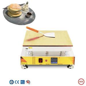 Elektrikli Kalınlaşmış Bakır Plaka Souffler Gözleme Makinesi Dorayaki Maker Dijital Ekran Sıcaklık Kontrolü Ticari Kaldırım