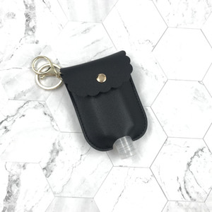 PU Leather Travel Bottle Holder Hand Sanitizer Holder Refillable Reusable Bottles Wrist Coil Key Chain only cover YYB1967