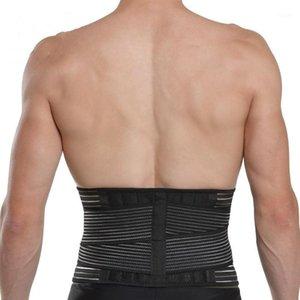 Support lombaire Taille Réglable Douleur Retour Bretelle de soutien pour la fitness Healthlifting Ceintures Sports Safety Correct Outils1