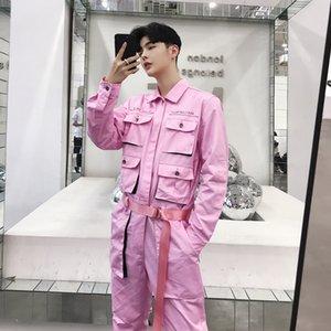2021 Uomo Fashions nero rosa multi tasche hip hop tuta da donna casual da donna cargo vintage-style-style-style joggers pantaloni ossy2