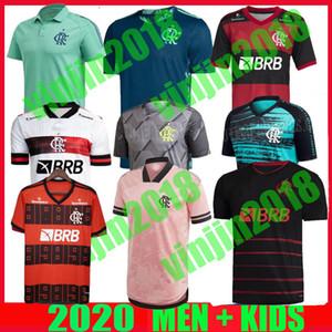 Nouveau 2021 Camisa Flamengo Outubro Rosa Soccer Jerseys 2022 Camisetas de Fútbol Gabriel B. Diego 21 22 Pedro Gerson Hommes Chemise de football pour enfants
