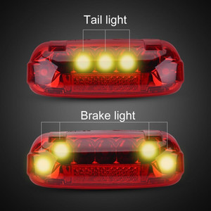36V 48V Electric Bicycle Taillight Electric Bike Brake Lamp Indicator LED Rear Light Warning Lamp Safety Night Cycling Accessory Y200920