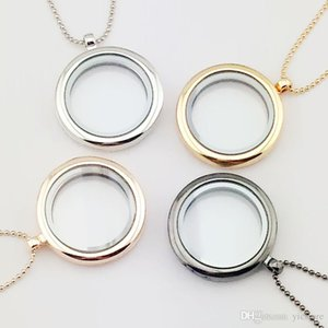 30mm floating locket DIY Jewelry transparent glass frames floating charm lockets pendants