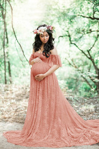 2020 New Arrival Fashion maternity lace dress gowns for photo shoot pregnant dress pregnancy photography props1