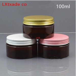 fast shipping100g ml Palm Red Plastic Packaging Bottle Jars Top Grade Originales Refillable Lucifugal Empty Cosmetic cream jars Containers